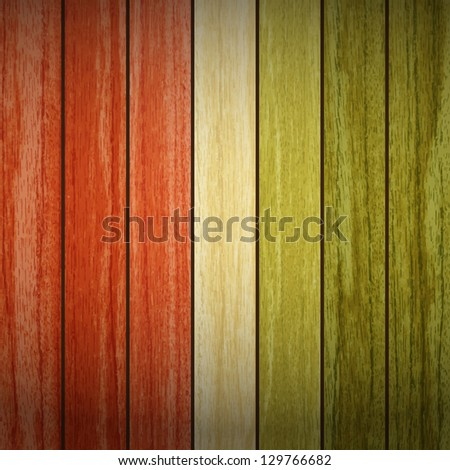 new natural style background with vertical wooden planks can use like vintage wallpaper - stock vector