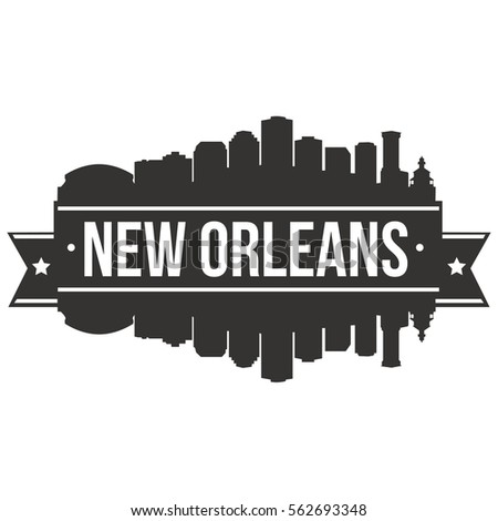 New Orleans Skyline Stamp Silhouette Stock Vector (Royalty ...