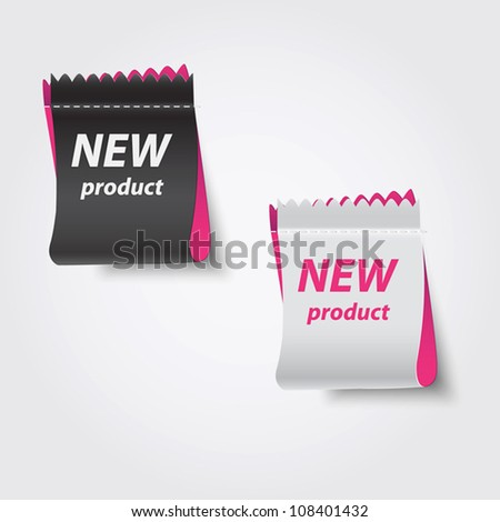 New product labels. Vector - stock vector