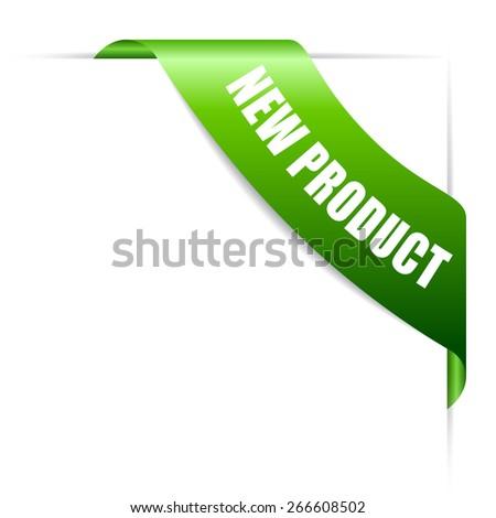 New product ribbon - stock vector