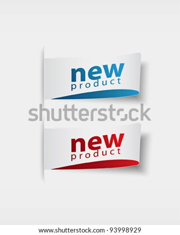 new product  stickers and tags - stock vector