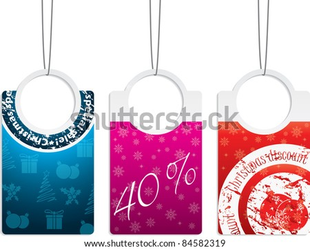 New set of labels for christmas holiday - stock vector