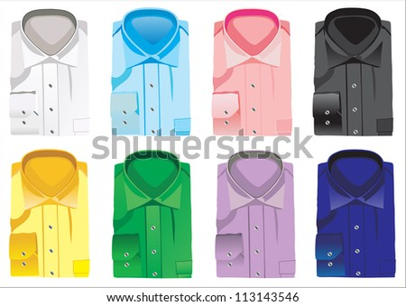 new shirts - stock vector
