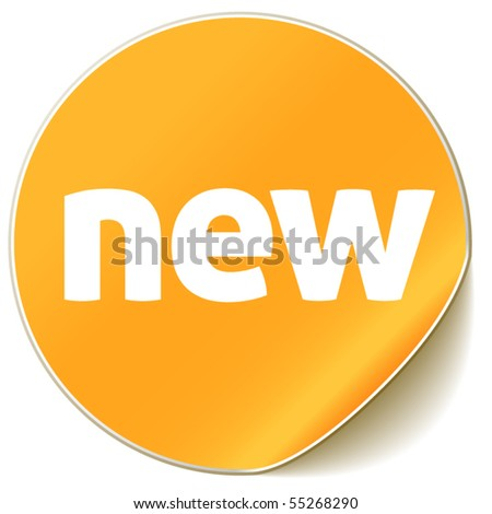 new sign - stock vector