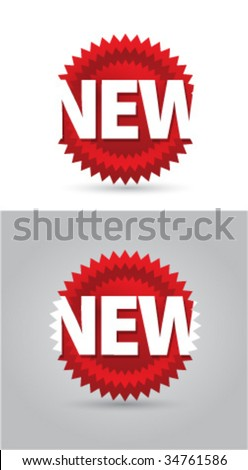 New sign icons design - stock vector