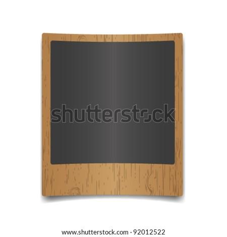 New single photo on wooden pattern. - stock vector