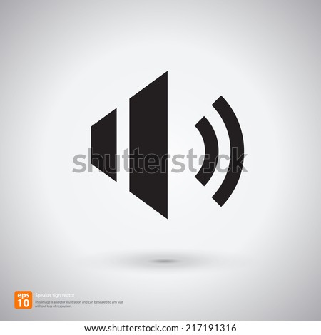 New speaker sign with shadow vector icon design - stock vector
