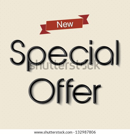 New special offer text lettering design - stock vector