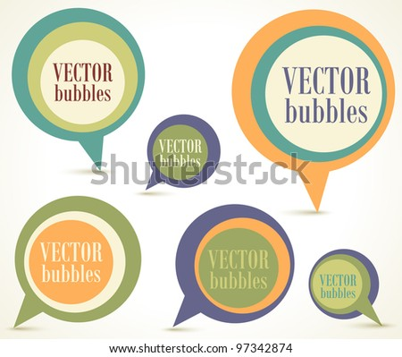 New speech bubbles set - stock vector