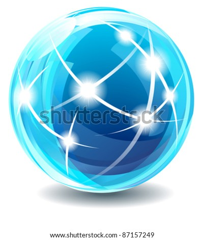 New Star Globe - Internet, communications concepts. - stock vector