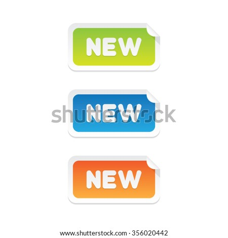New Sticker Labels - stock vector