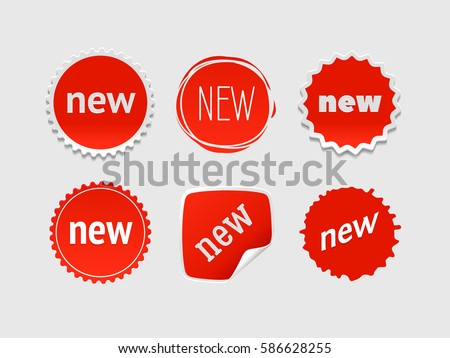 New sticker set vector sale banner stock vector 2018 586628255 shutterstock