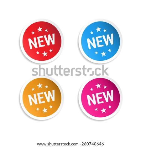 New Stickers - stock vector