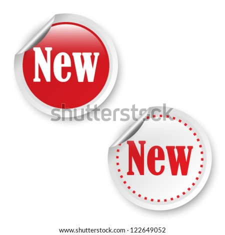 New stickers, vector illustration - stock vector