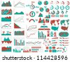 NEW STYLE WEB ELEMENTS INFOGRAPHIC DEMOGRAPHIC RED - stock vector