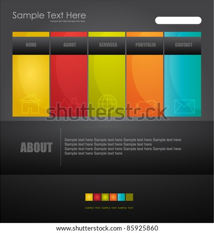 new stylized web design template - stock vector