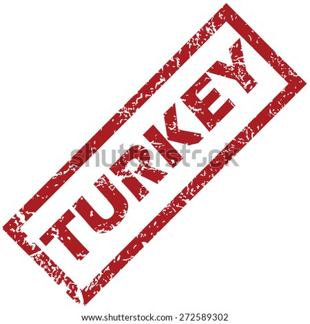 New Turkey grunge rubber stamp on a white background. Vector illustration