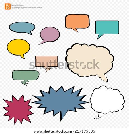 New vector Cartoon speech balloon, Comic Speech Bubble  icon - stock vector