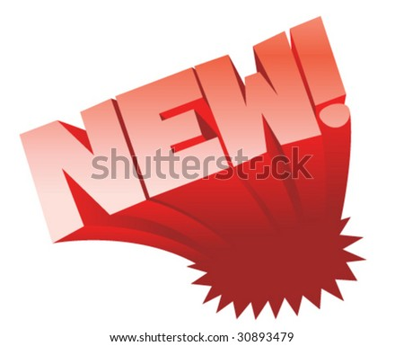 NEW! - Vector Illustration - stock vector