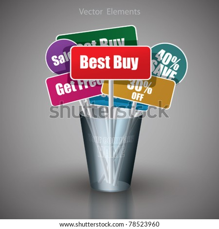 New Vector Labels - stock vector