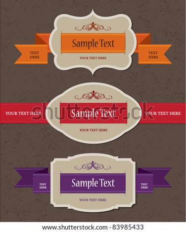 new vintage label - stock vector