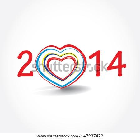 New year  2014  - stock vector