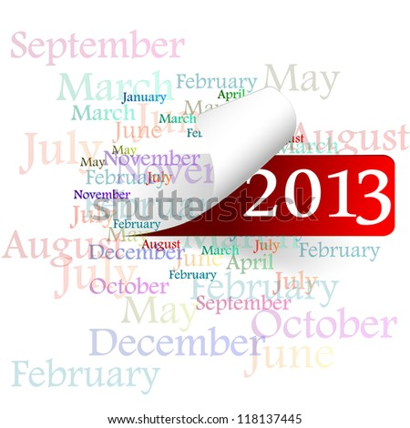 new year 2013, a month