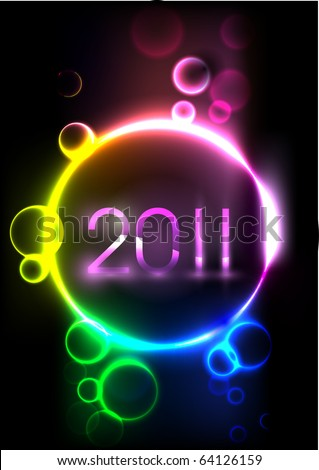 New year abstract background - stock vector
