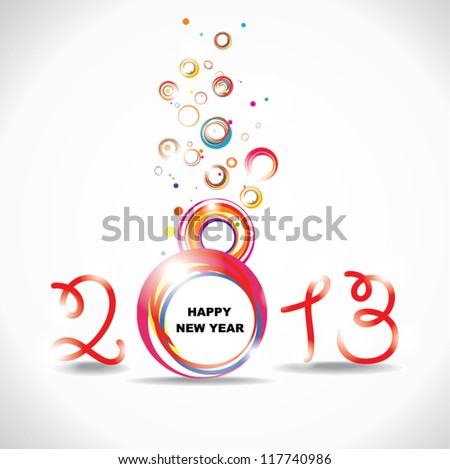 New year 2013 . Abstract poster - stock vector