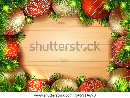 New Year Merry Christmas Template Vector Stock Vector 346314698 ...