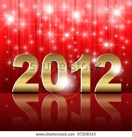 New Year 2012 background. - stock vector