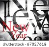 New year background. Vector illustration - stock vector