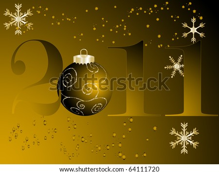 New Year background - vector illustration