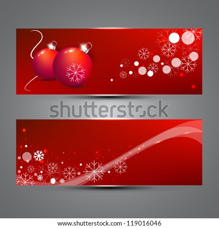 new year banners - stock vector