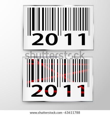 New year 2011 Bar codes, all data is fictional - stock vector