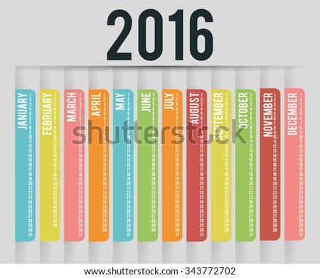 New year calendar schedule graphic design, vector illustration eps 10 - stock vector