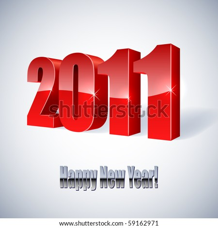 New 2011 year card. - stock vector