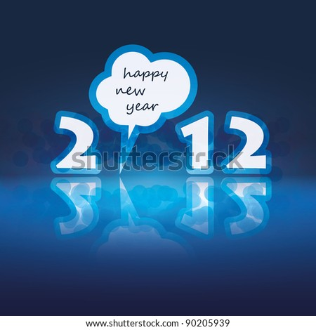 New Year Card - stock vector
