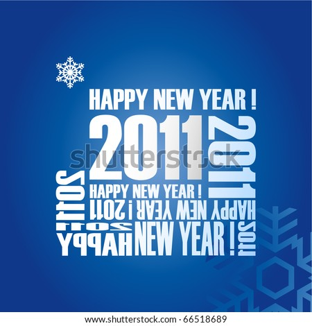 New year card 2011 design. - stock vector