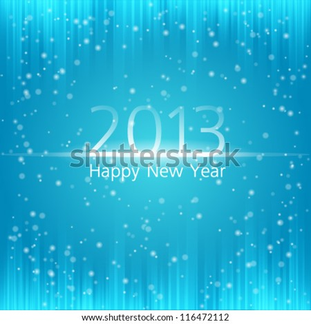 New year celebration poster 2013. Ideal for club flyer, postcard or party invitation backgrounds. - stock vector