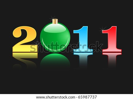 New year 2011 - Christmas Toy Black Edition - stock vector