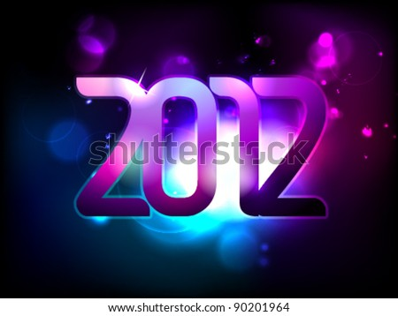 New year 2012 / colorful modern design / vector illustration / design layout - stock vector