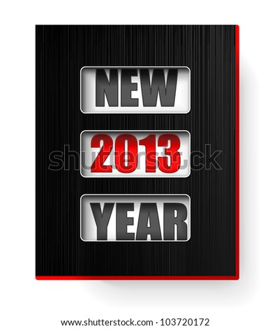 New 2013 Year counter - stock vector