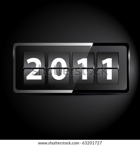 New Year counter - stock vector