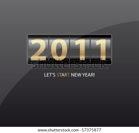 New Year counter. Vector. - stock vector