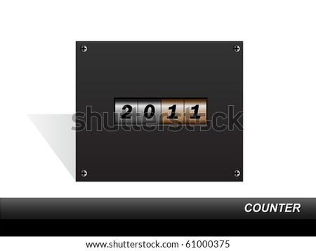 New Year 2011 counter. Vector. - stock vector