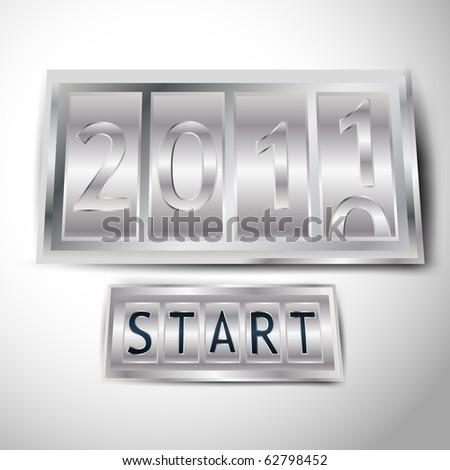New Year counter - Vector. - stock vector