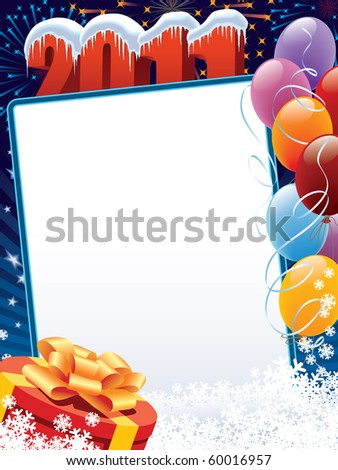 New Year 2011 decoration ready for posters and cards - stock vector