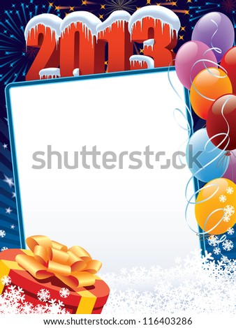 New Year decoration ready for your message - stock vector