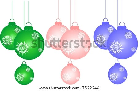 New Year decorations - stock vector